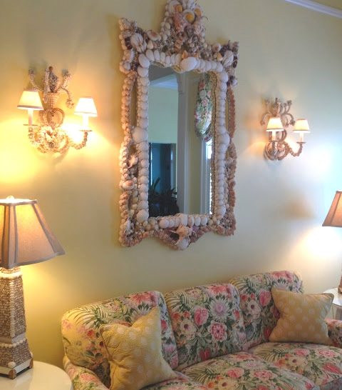 Sea Shell Mirror at Gasparilla Inn