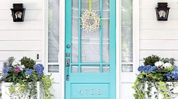 A-Door-Able Blue Painted Front Doors that Remind you of the Beach
