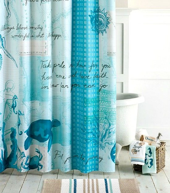 Blue Under The Sea Shower Curtain