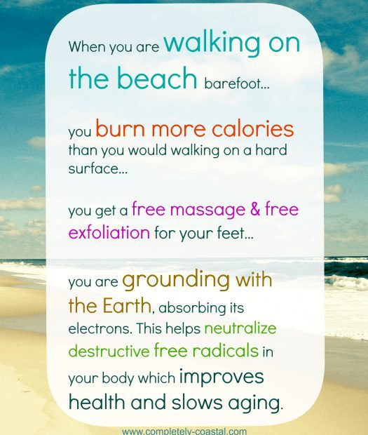 health benefits for walking on the beach