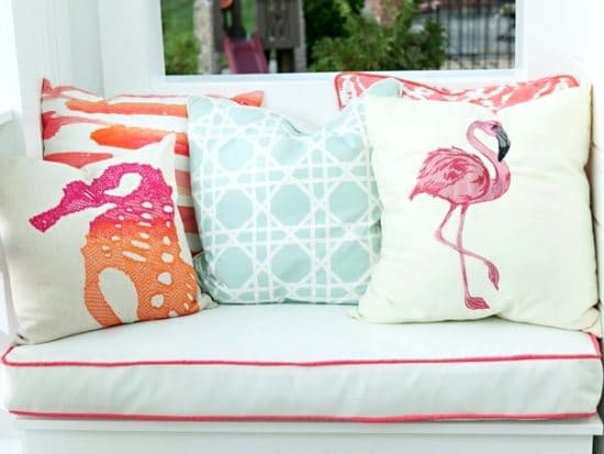 beach porch pillows
