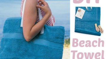 An Extremely Practical Beach Towel Tote Bag