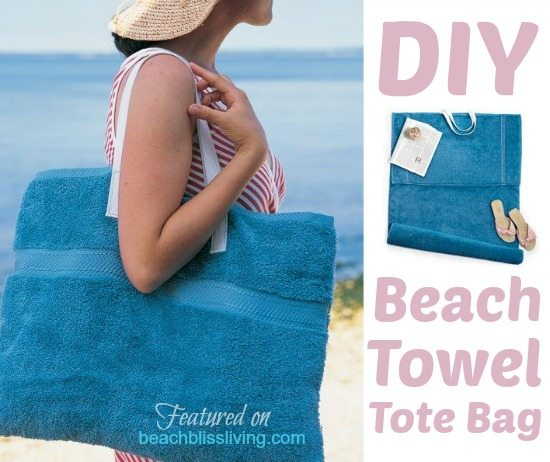 DIY Beach Tote Towel Bag
