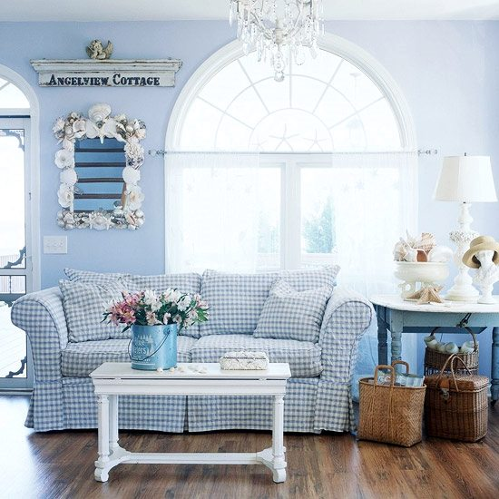 Blue and White Beach Cottage