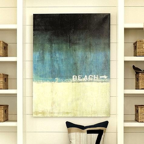 Beach Word Art Print Canvas