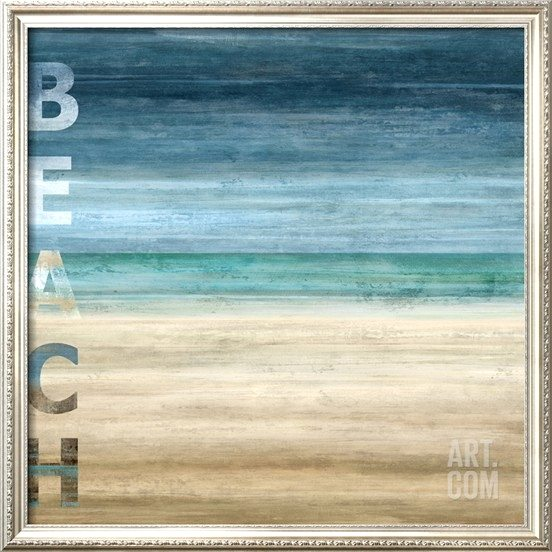 Ocean Blue and Beach Art