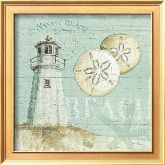 Calm Beach Art Framed