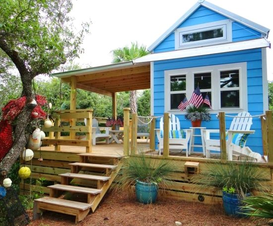 Tiny Beach House Cottage Porch