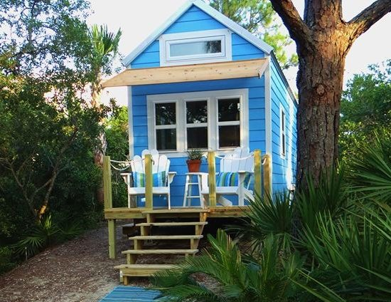 Tiny rv beach house cottage living on st george island Beach cottage house