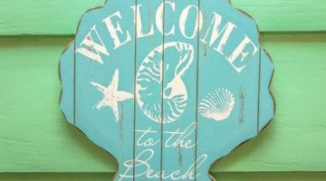 Welcome to the Beach Signs
