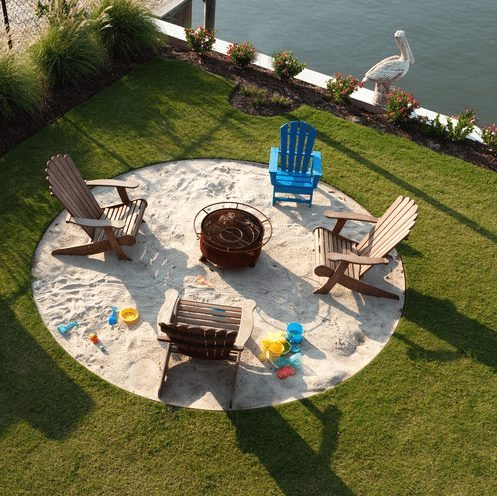 Backyard Beach Bonfire Pit in Sand