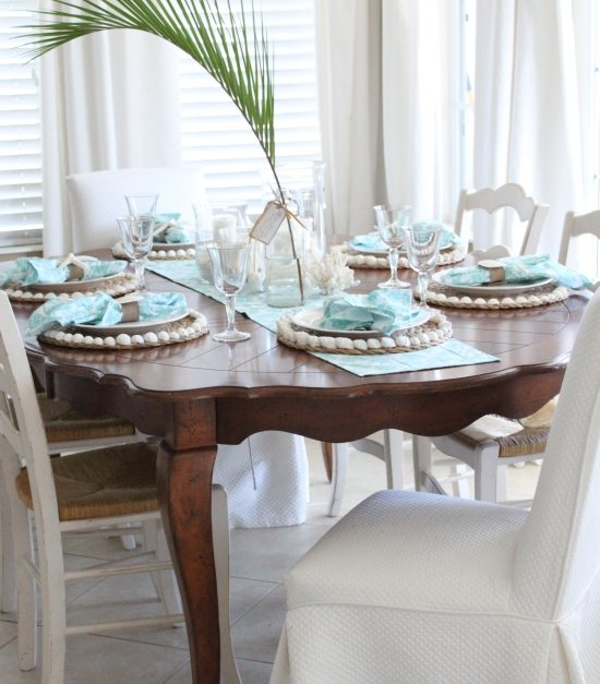 Beach Blue Table Decor