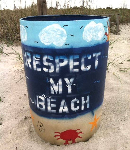Beach Garbage Can