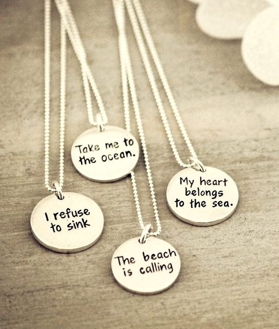 Beach Saying Necklace