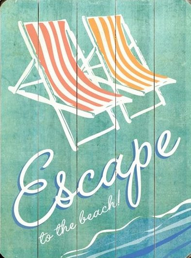 Beach Escape Sign Vintage