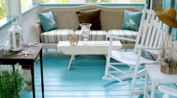 Create Beach Bliss with a Blue Porch Floor