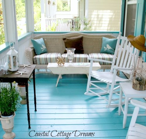 Blue Porch Floor