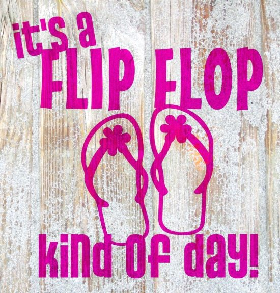 It's a Flip Flop Kind of Day Wall Sticker