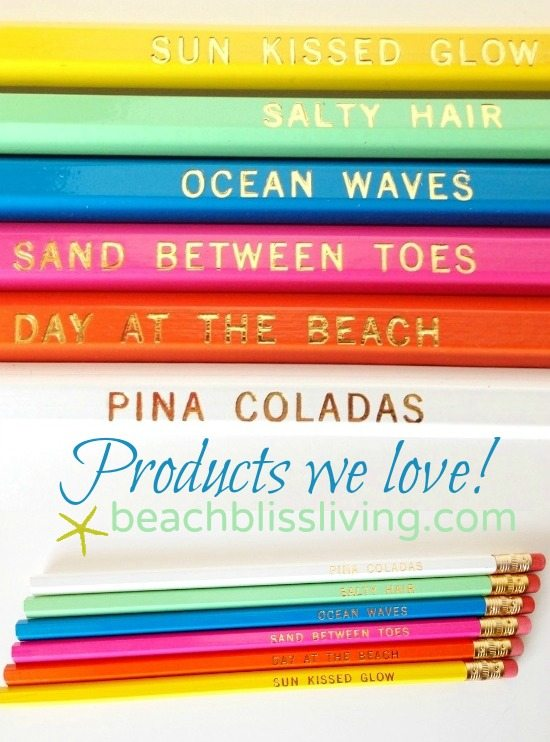 Pencils with Beach Quotes