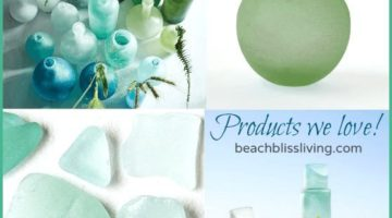 Seaglass Bottle Vases & Hurricanes from West Elm