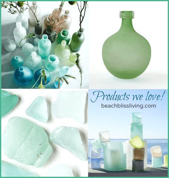 Seaglass Bottle Vases
