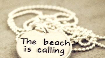 Hand Stamped Beach Quote Necklaces -The Work of 6 Artisans
