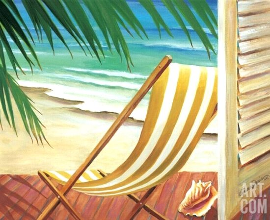 Deck Chair Painting Tropical