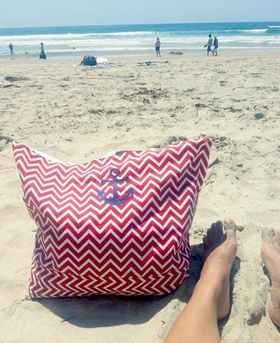 Chevron Anchor Beach Bag