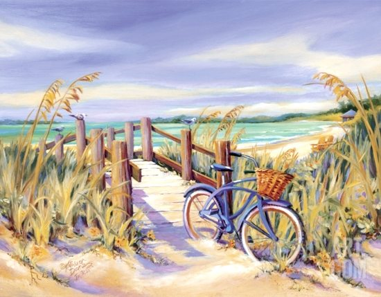 Beach Bike Painting