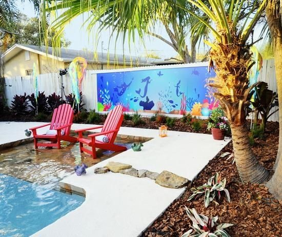 Beach Backyard Disney World Inspired
