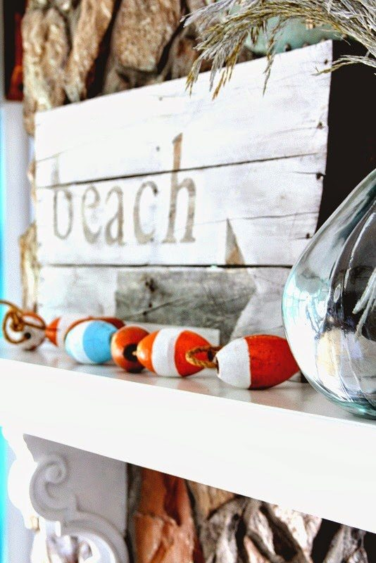 Beach Summer Mantel