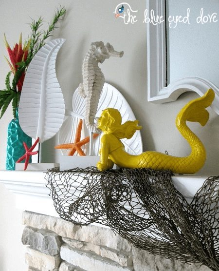 Colorful Beach Mantel