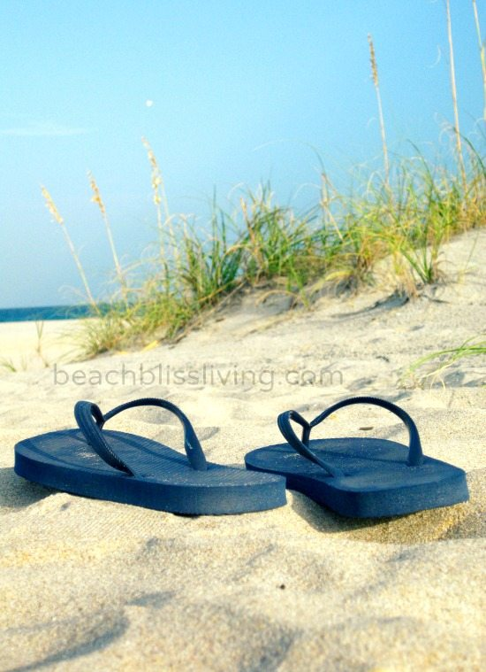Flip Flops on the Beach Photo