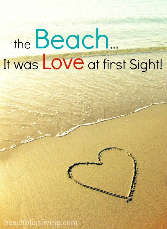 I love the Beach Sand Heart Photo