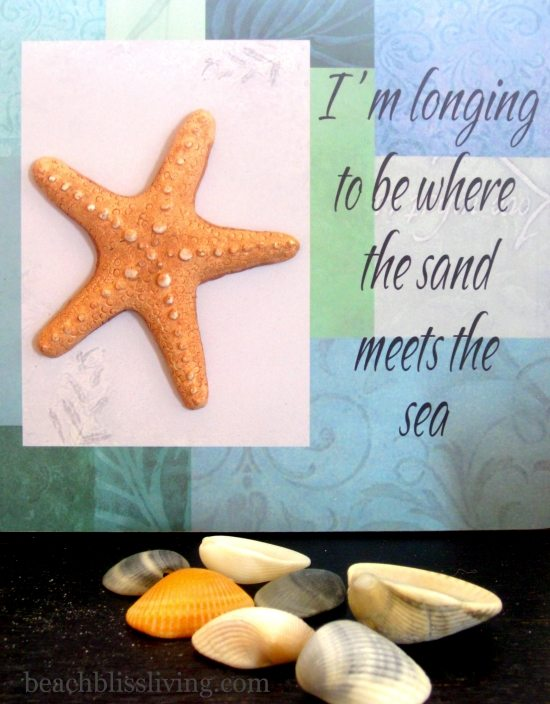 Longing to be by the Sea Beach Sign Decor