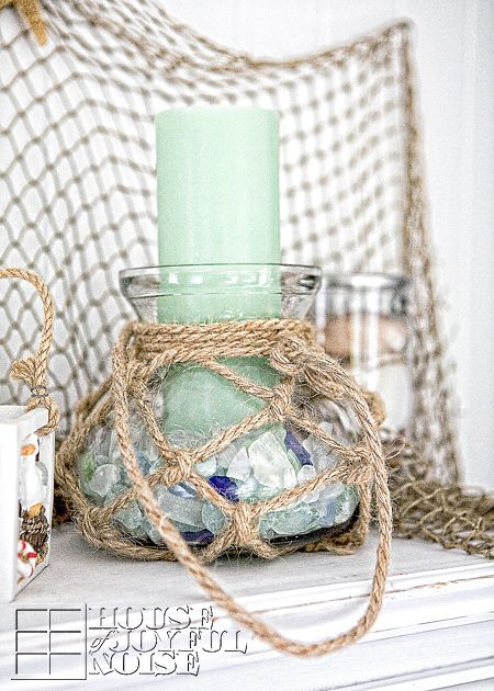 Summer Beach Mantel Decor Idea