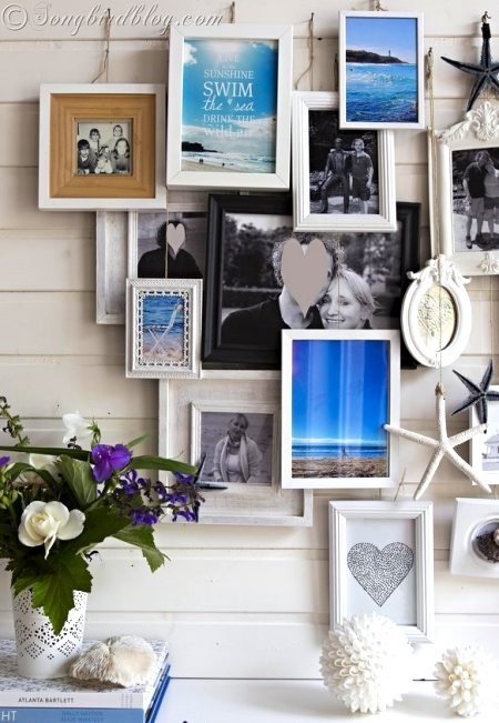 Summer Beach Mantel Photo Frames