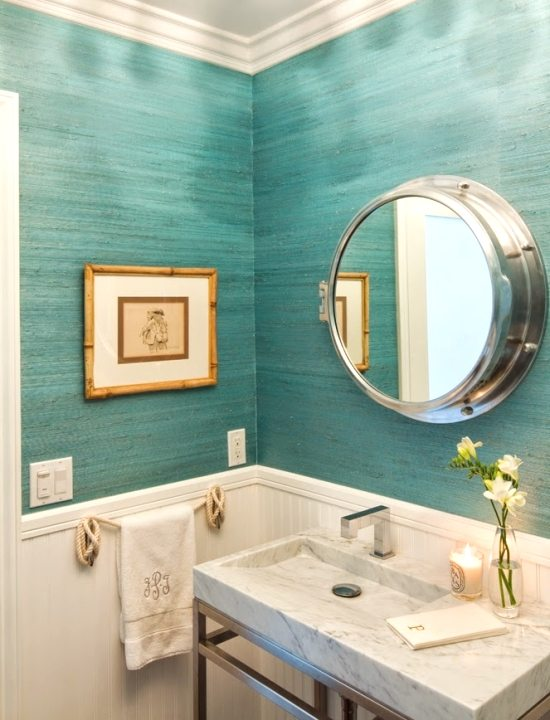 Turquoise Nautical Bathroom