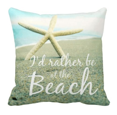 Beach Quote Pillow