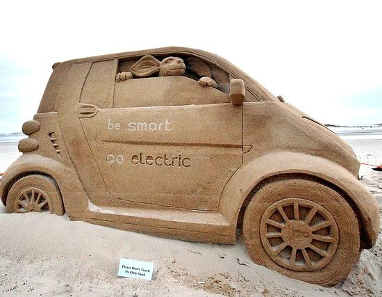 Car sand sculpture