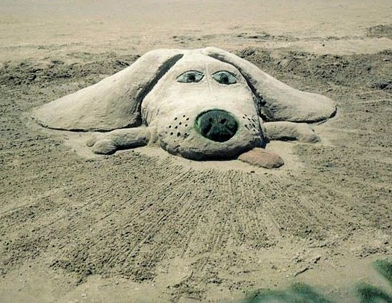 Dog Sand Sculpture