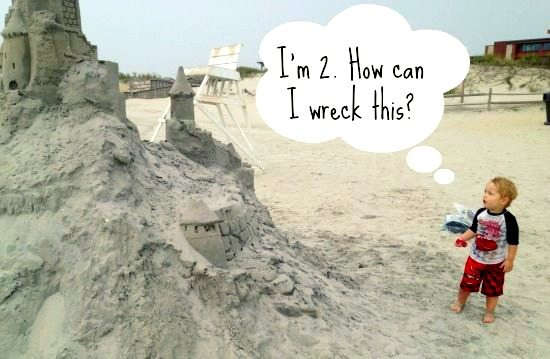 Funny Sand Castle