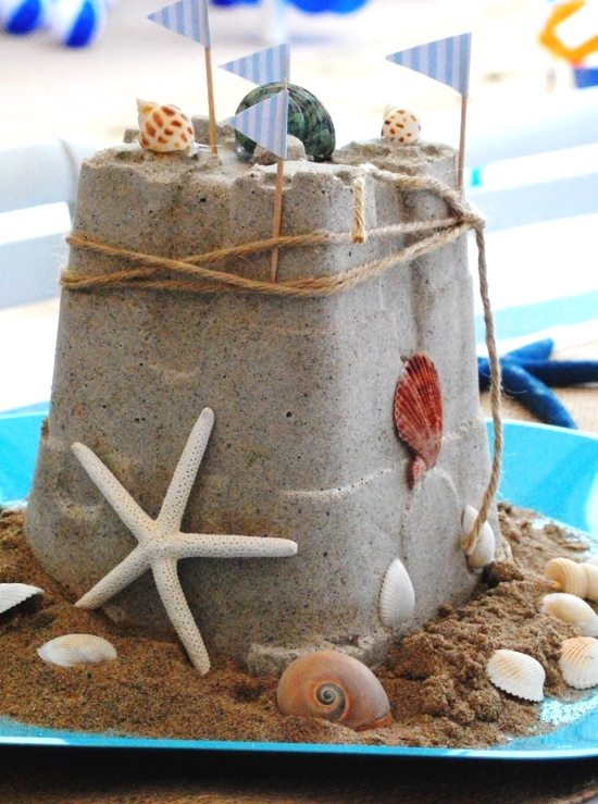 Sand Castle Centerpiece for Beach Party