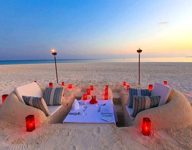 Sand Furniture on the Beach