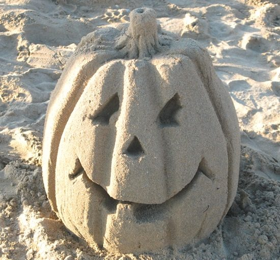 Sand Pumpkin Sculpture