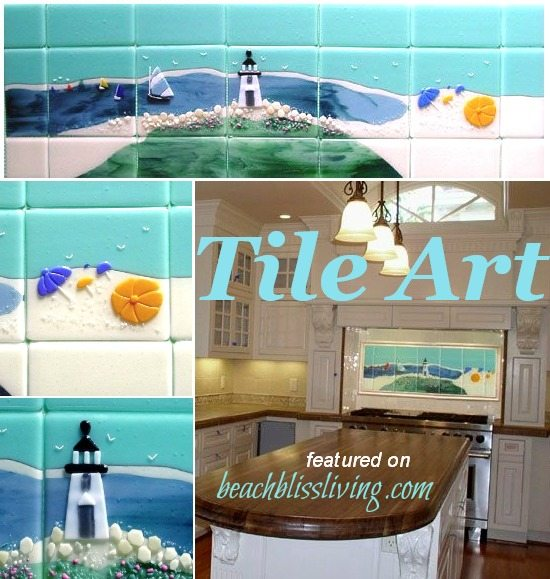 Beach Tile Kitchen Backsplash