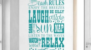 Beach Rules are the Best -Prints, Pillows, Wall Decals & Signs
