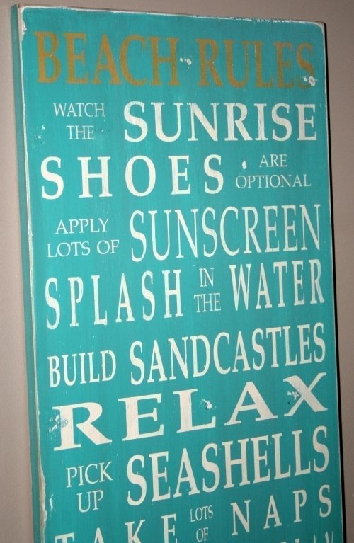 Beach Rules Etsy Sign