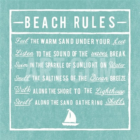 Beach Rules Posters