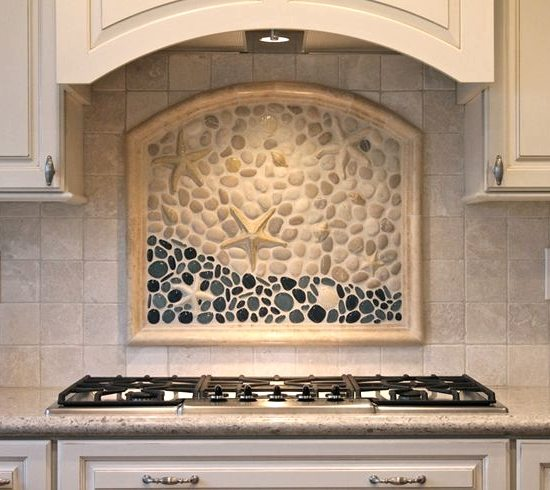Beach tile art for bathrooms and kitchens inspired from for Custom mural tiles